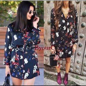 NWT- Zara pajama long blouse size M 100% Polyester